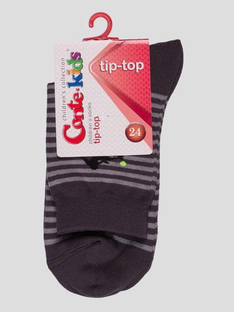 Носки темно-серые с полосками и рисунком Conte Kids 2626375