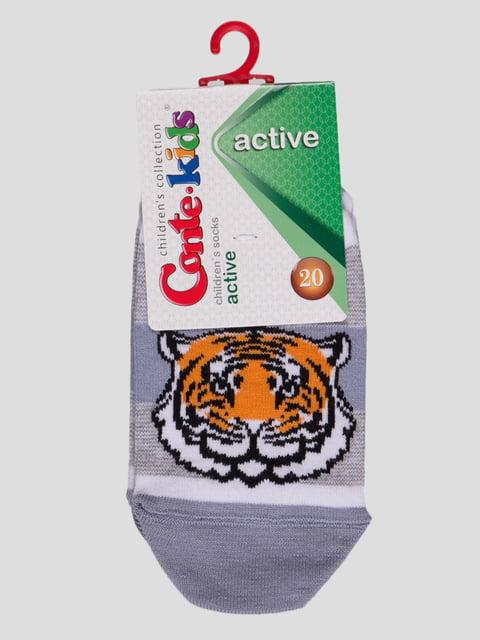 Шкарпетки блакитні з малюнком Conte Kids 4366785
