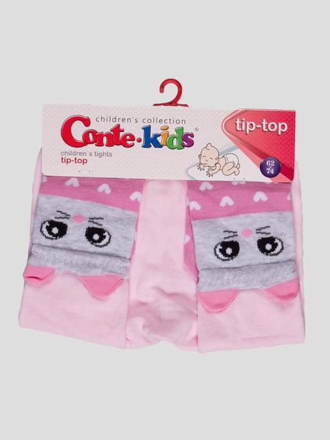 Колготки світло-рожеві з малюнком Conte Kids 4366688