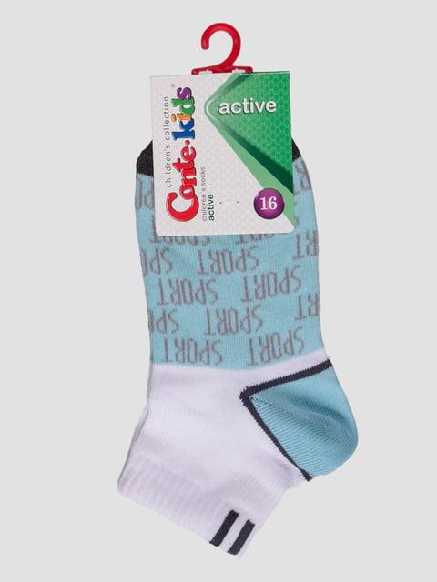 Шкарпетки двоколірні з малюнками Conte Kids 4366738