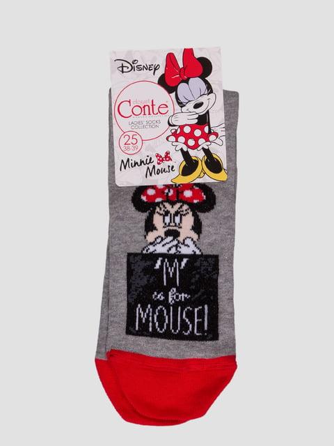 Носки серые с рисунком Conte 4366530