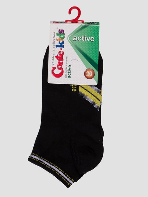 Шкарпетки чорні з малюнком Conte Kids 4366746