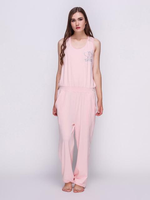 Комбинезон персикового цвета с принтом пижамный S.Oliver 4358934