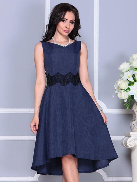 Сукня темно-синя Laura Bettini 4373742