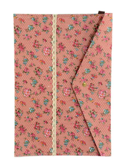 Папка для документов розовая в цветочный принт Traum 4342850