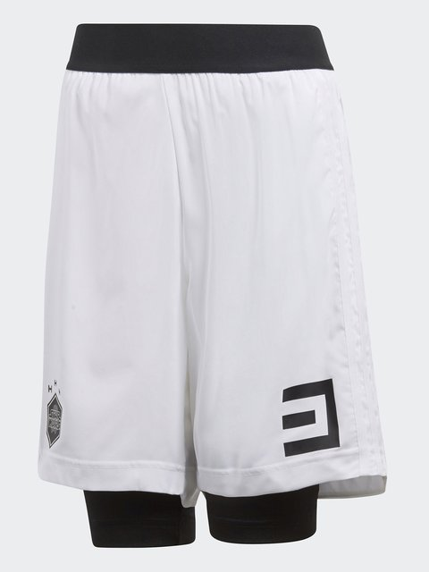 Шорти з легінсами білі в принт Adidas 4375445