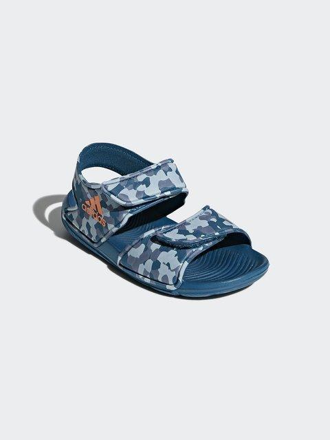 Сандалии синие в абстрактный принт Adidas 4375590