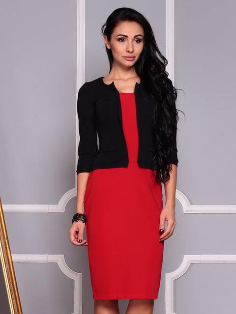 Платье черно-красное Maurini 4382789
