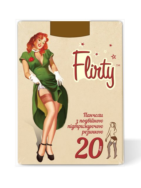 Панчохи тілесного кольору 20 Den Flirty 4343576