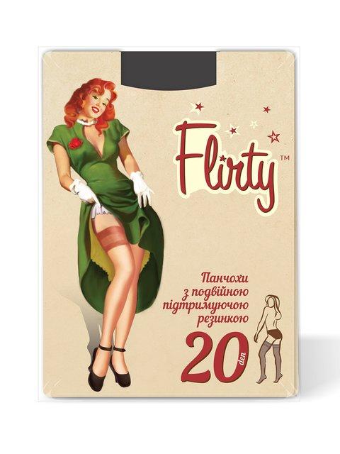 Панчохи чорні 20 Den Flirty 4343578