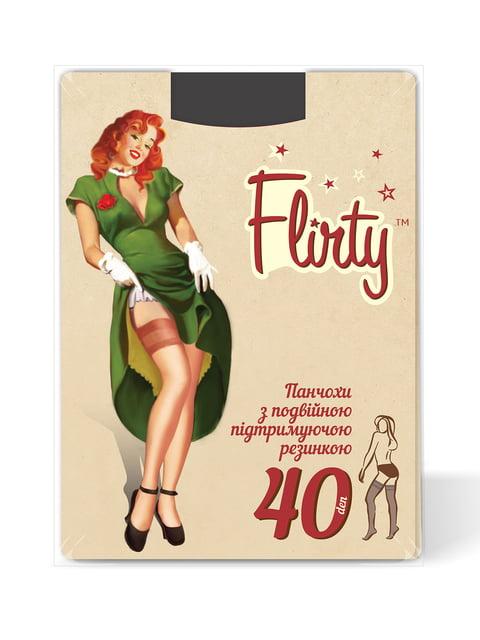 Панчохи чорні 40 Den Flirty 4343583