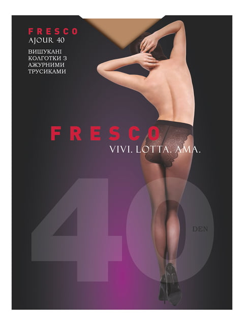 Колготки бронзового кольору 40 den Fresco 4343622
