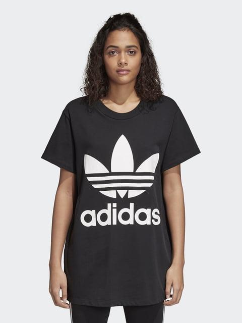 Футболка черная с принтом Adidas 4375924