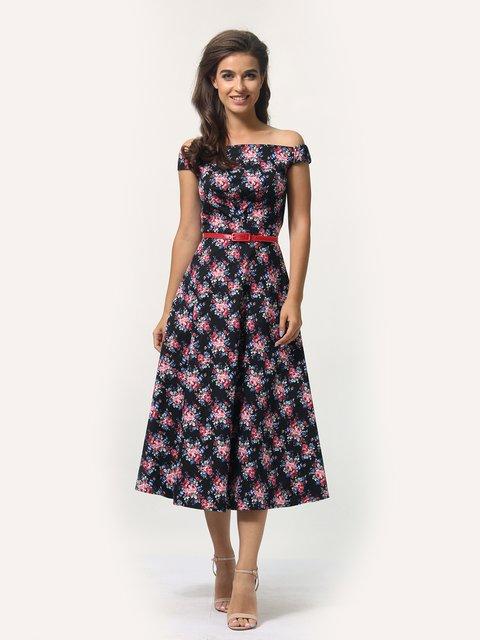 Платье черное в цветочный принт AGATA WEBERS 4388477