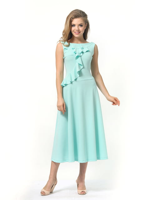 Платье мятного цвета Lada Lucci 4389315