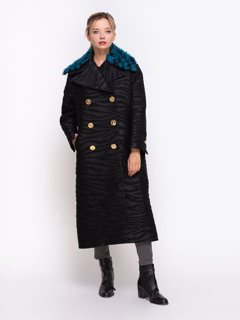 Пальто черное Kenzo 4372241