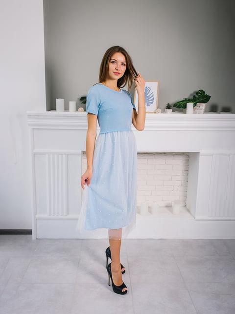 Платье голубое VSV 4391928