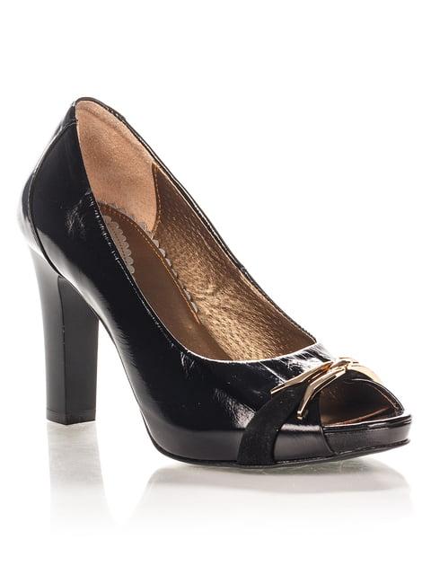 Туфли черные с декором La Rose 1653539