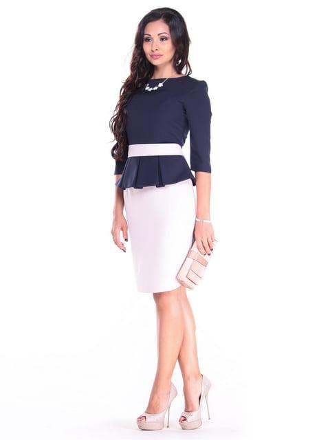 Сукня синьо-бежева Dioni 4387038