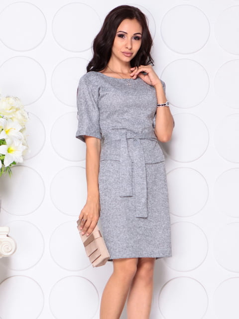 Платье серое Laura Bettini 4399820