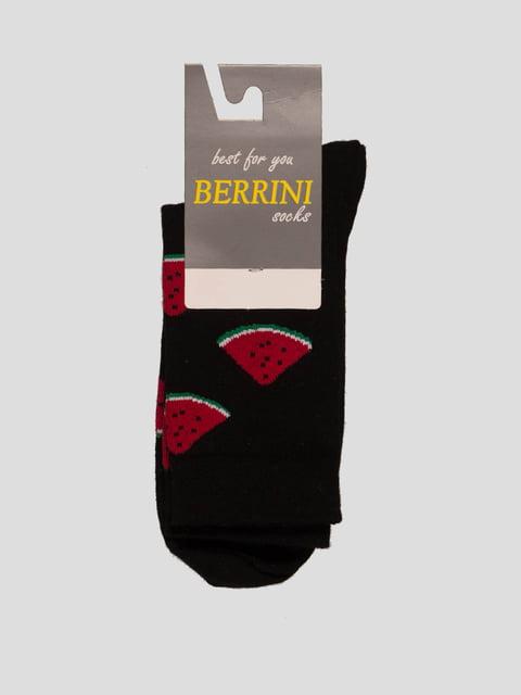 Шкарпетки чорні в малюнок Berrini 4398745