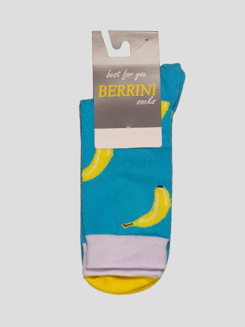 Шкарпетки блакитні в малюнок Berrini 4398748