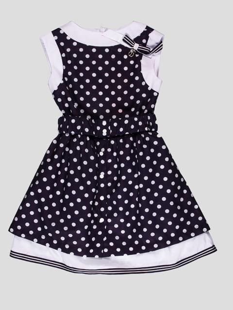Сукня темно-синя в горошок Flash 4397477
