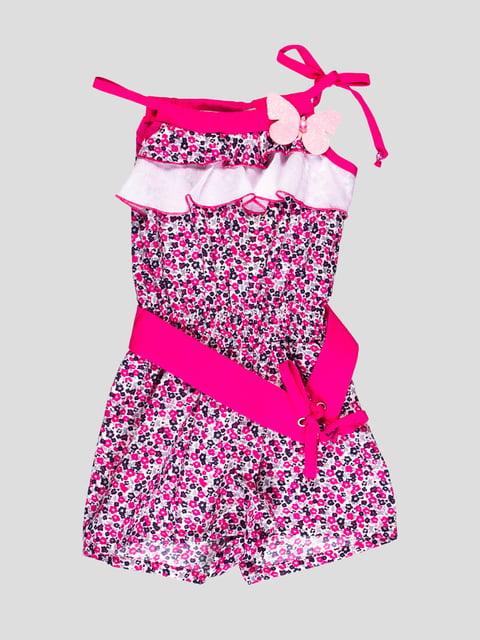 Комбінезон біло-рожева в квітковий принт Flash 4397810