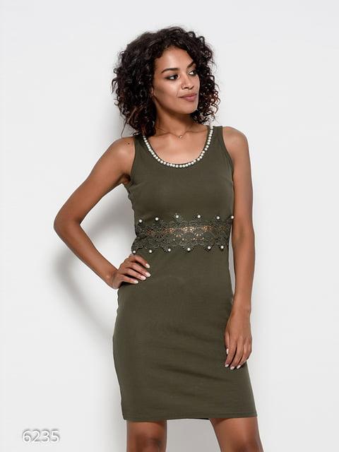 Платье цвета хаки Magnet 4412384