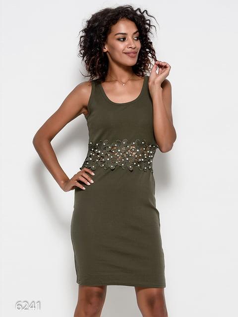 Платье цвета хаки Magnet 4412387