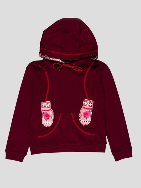 Толстовка бордового кольору з капюшоном Flash 1422342