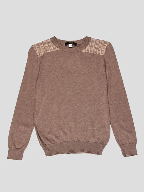 Джемпер коричневий з зигзагами Flash 4397399