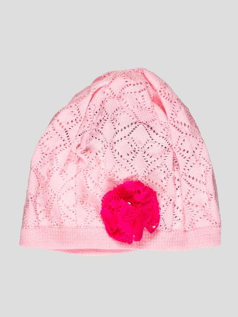 Шапка рожева з квіткою Flash 1726923