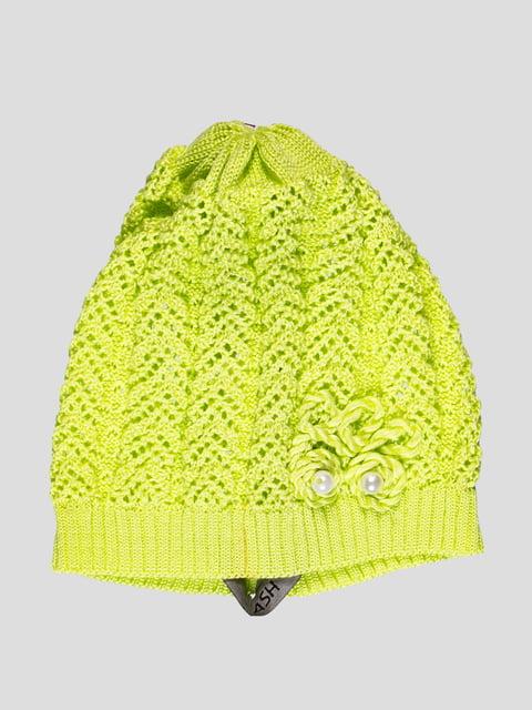 Шапка лимонного цвета с декором Flash 1036576