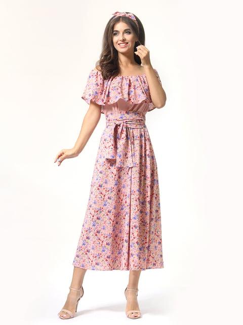 Платье розовое в цветочный принт AGATA WEBERS 4418805