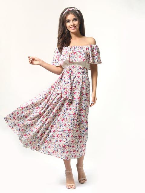 Платье розовое в цветочный принт AGATA WEBERS 4418806