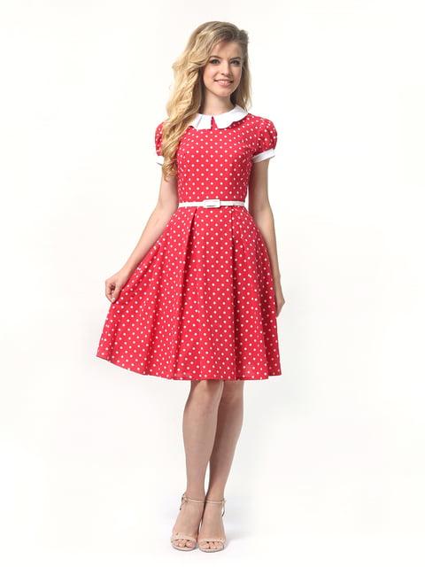 Платье красное в горошек Lada Lucci 4418827