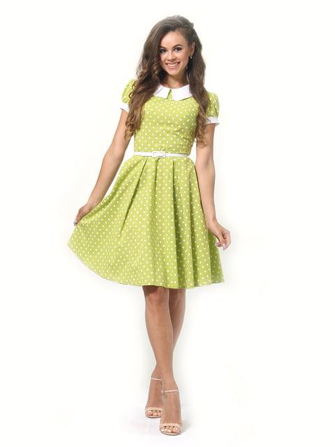 Платье салатового цвета в горошек Lada Lucci 4418828