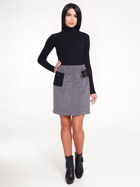 Юбка черно-серая Favoritti 4421259