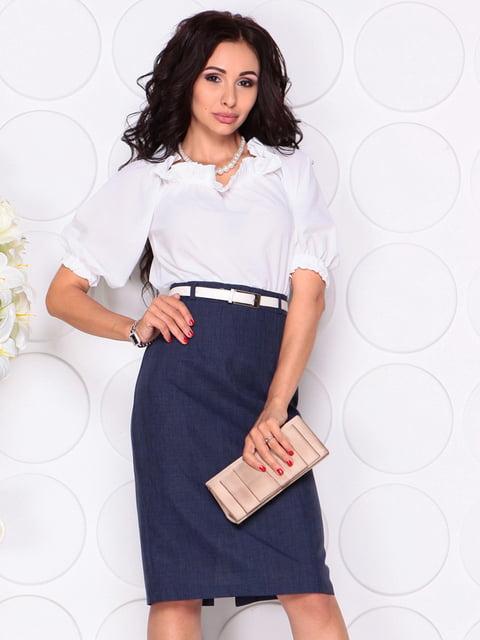 Платье бело-синее Laura Bettini 4414396