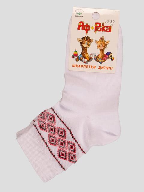 Шкарпетки білі в орнамент Misyurenko 3630440