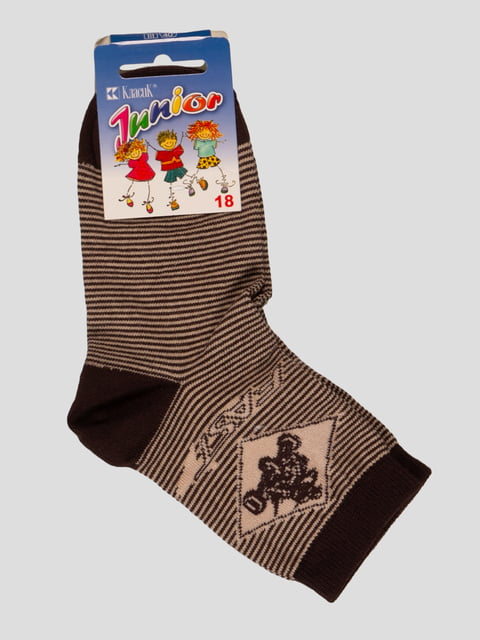 Шкарпетки коричневі Классик 3630709