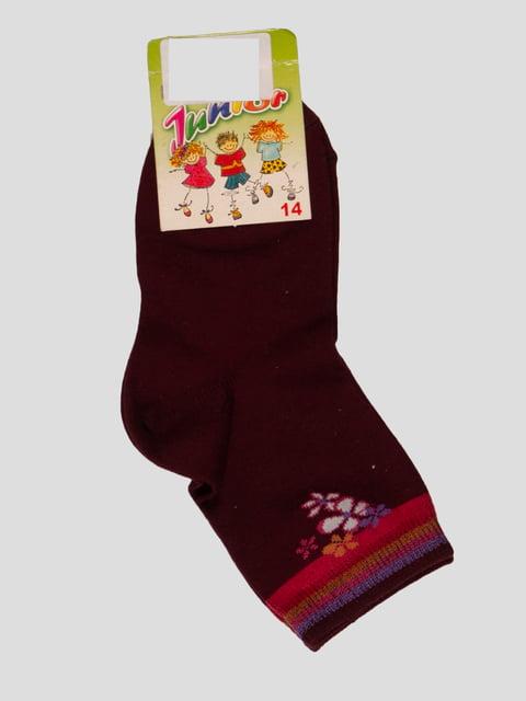 Шкарпетки бордові Классик 3630667