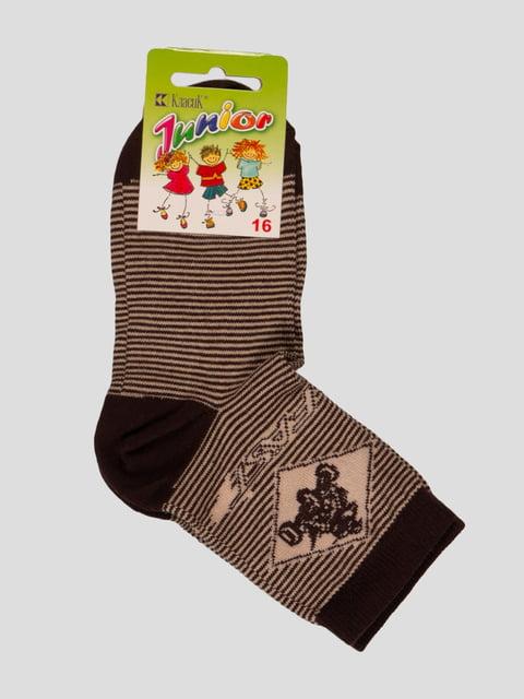 Шкарпетки темно-коричневі Классик 3630691