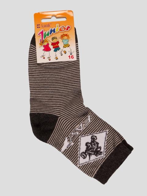 Шкарпетки сірі в смужку Классик 4412058