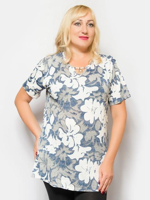 Блуза в цветочный принт LibeAmore 4425257