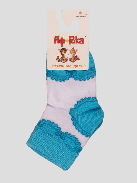 Шкарпетки біло-блакитні Misyurenko 3630571