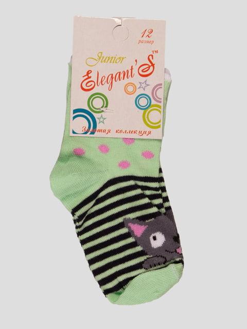 Шкарпетки лаймового кольору ELEGANTS 4100463