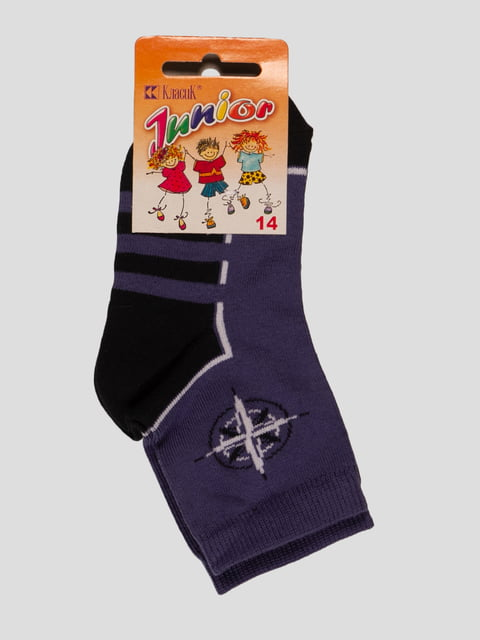 Шкарпетки синьо-чорні Классик 3630701