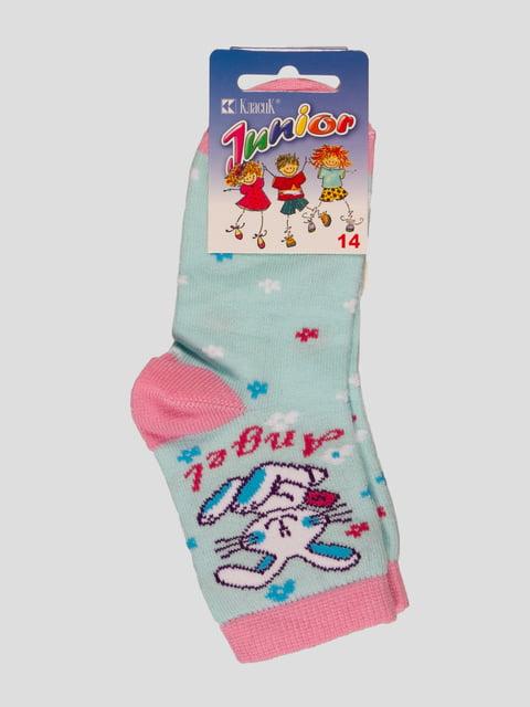 Шкарпетки блакитні Классик 4412068